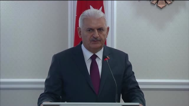 turkish prime minister binali yildirim holds a joint press conference with his moldovan counterpart pavel filip in chisinau moldova on may 05 2017 - moldova stock videos and b-roll footage