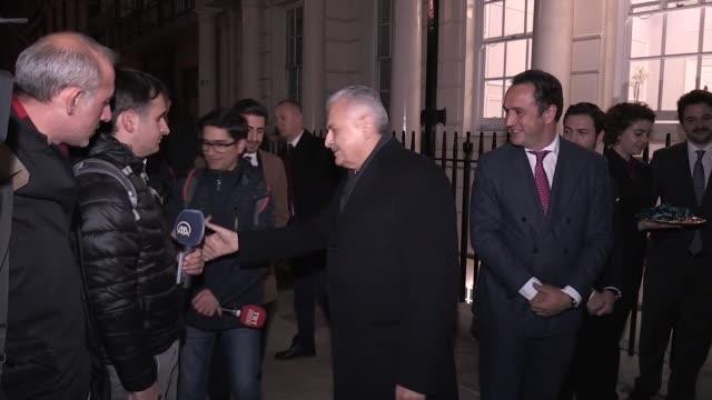 turkish prime minister binali yildirim inaugurates dome group investment bank in london on november 26, 2017. - トルコ首相点の映像素材/bロール