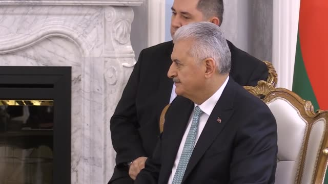 turkish prime minister binali yildirim meets with belarusian president alexander lukashenko on february 15 2018 in minsk belarus turkish prime... - minister president stock videos and b-roll footage