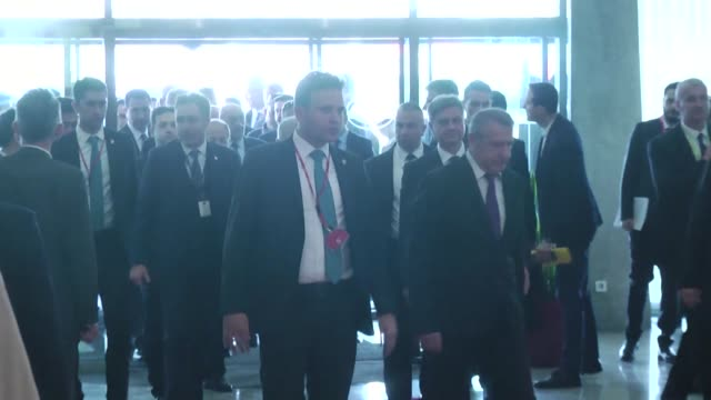 turkish prime minister binali yildirim meets with bosnia and herzegovina's chairman of the bosnian council of ministers denis zvizdic in sarajevo... - türkischer premierminister stock-videos und b-roll-filmmaterial