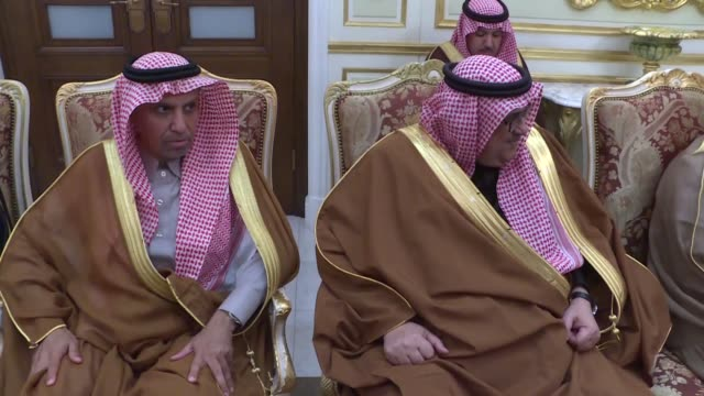 turkish prime minister binali yildirim meets with crown prince and defense minister of saudi arabia mohammed bin salman al saud in riyadh saudi... - crown prince stock videos & royalty-free footage