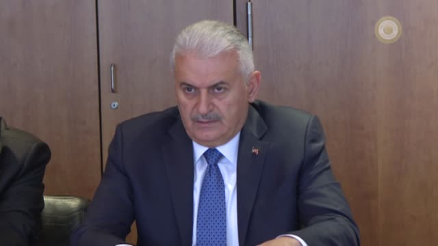 "turkish prime minister binali yildirim meets with editorial boards of ""financial times"" within london somalia conference on may 12, 2017 in london. - editorial stock videos & royalty-free footage"