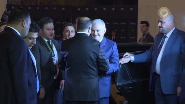turkish prime minister binali yildirim meets with iraqi parliament speaker salim aljabouri in baghdad iraq on january 07 2017 - binali yildirim stock-videos und b-roll-filmmaterial