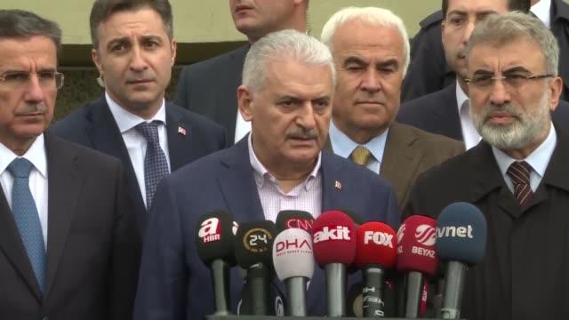 turkish prime minister binali yildirim on friday called on greece to regard fetullah terrorist organization members as its own enemy just like its... - binali yildirim stock-videos und b-roll-filmmaterial