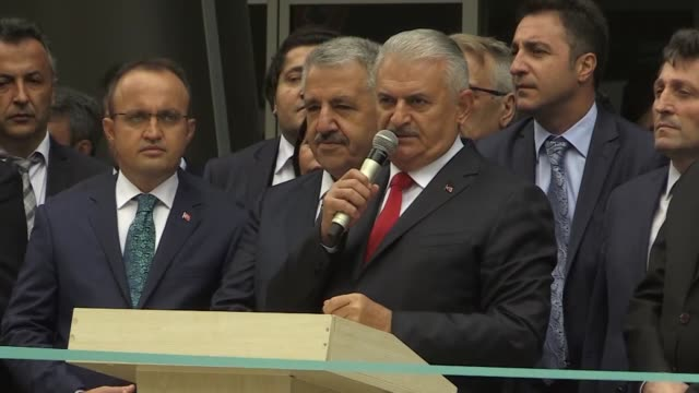 turkish prime minister binali yildirim on september 29 2017 praised turkey's civil aviation industry for its exponential growth during the last 15... - international air transport association video stock e b–roll