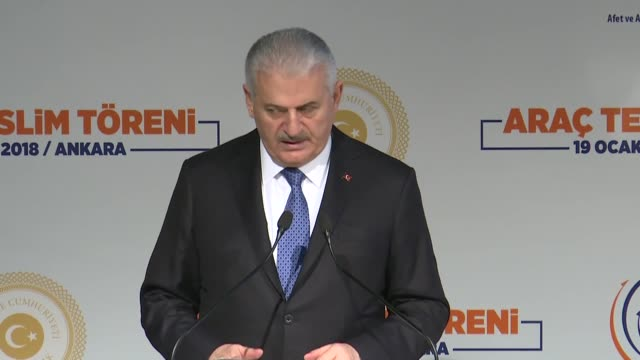 "Turkish Prime Minister Binali Yildirim said on January 19 2018 Turkey would not tolerate any threats to its national security ""Any formation that..."