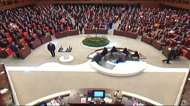 turkish prime minister binali yildirim takes his oath at the parliament in capital ankara on july 07 2018 the general assembly convened at 2 pm under... - governmental occupation stock videos & royalty-free footage