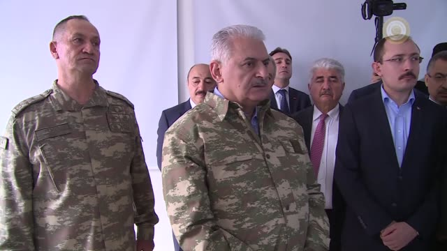 Turkish Prime Minister Binali Yildirim visited a military command center in the southern Hatay province on Sunday as Operation Olive Branch continues...