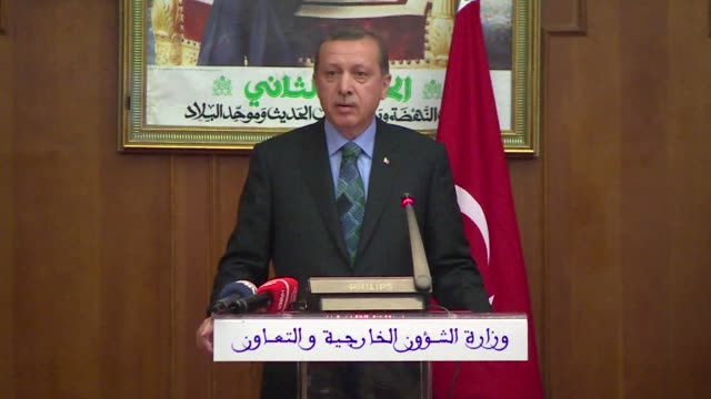 turkish prime minister recep tayyip erdogan said monday on a visit to morocco that the situation in his country is now calming down despite a fourth... - recep tayyip erdoğan stock videos & royalty-free footage
