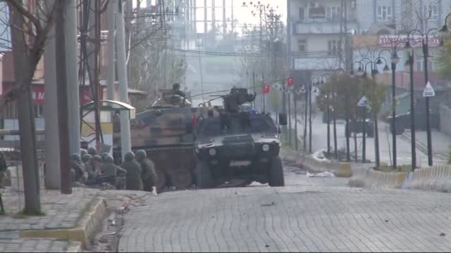 turkish security forces carry out an operation against terrorist organization pkk in sirnak's silopi district turkey on december 17 2015 - silopi stock videos and b-roll footage