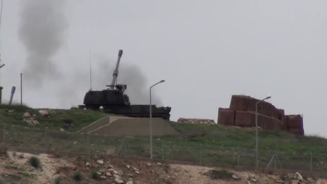 Turkish security forces on January 19 2018 hit several PYD/PKK targets in the besieged Syrian border town of Afrin in order to prevent a 'terror...