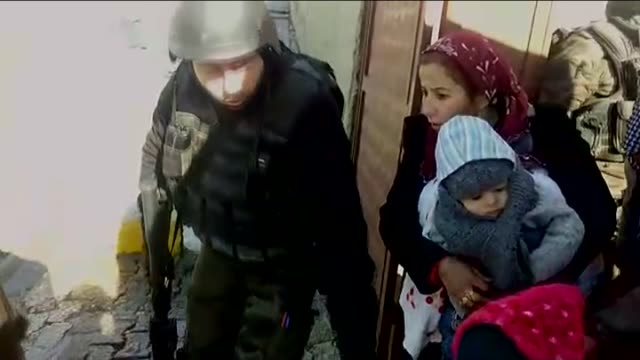 turkish soldiers evacuate local people during an antiterror operation as terrorist attacks continue in silopi town of sirnak turkey on january 07... - silopi stock videos and b-roll footage