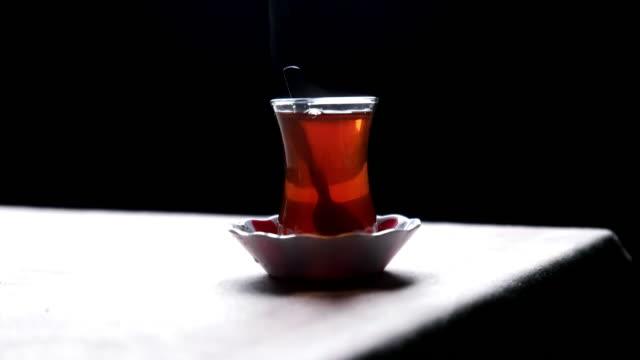 turkish tea - black tea stock videos and b-roll footage