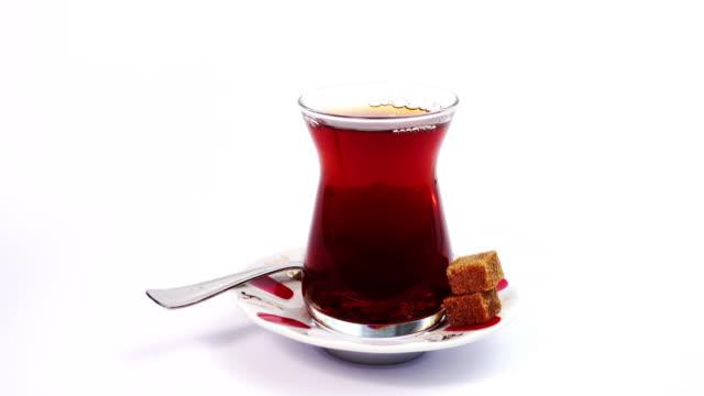 vidéos et rushes de thé turc - thé noir