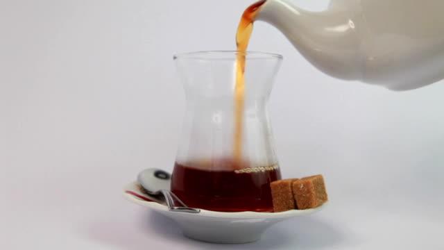 Turkish Tea with traditional tea glass