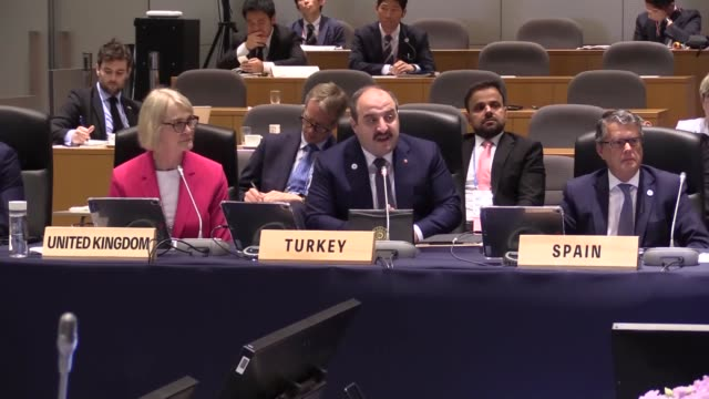 turkish technology and industry minister mustafa varank meets separately with german federal minister for economic affairs and energy peter altmaier,... - european commission stock videos & royalty-free footage