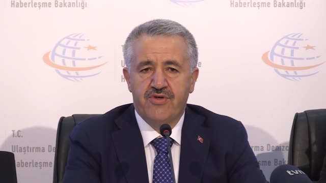 turkish transportation, maritime and communications minister ahmet arslan speaks at a news conference on the canal istanbul project on january 15,... - north sea canal stock videos & royalty-free footage