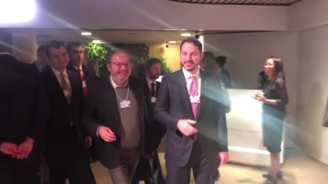 Turkish Treasury and Finance Minister Berat Albayrak attends the 49th World Economic Forum in Davos Switzerland on January 23 2019