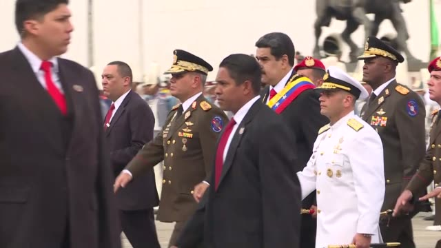 Turkish Vice President Fuat Oktay attends Venezuelan President Nicolas Maduro's swearingin ceremony in Caracas on January 11 2019