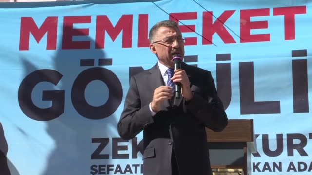 turkish vice president fuat oktay delivers a speech during a campaign rally ahead of march 31 local elections in yozgat turkey on march 26 2019... - legal occupation stock videos and b-roll footage