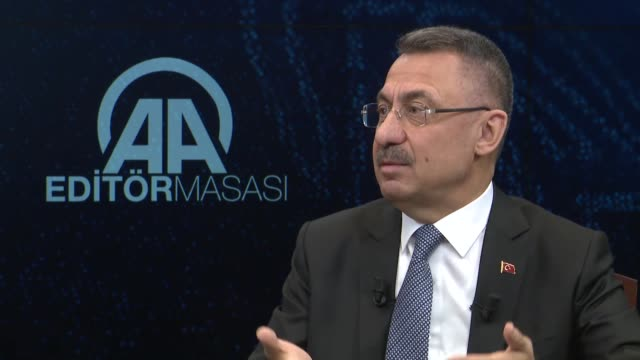 stockvideo's en b-roll-footage met turkish vice president fuat oktay speaks at anadolu agency's editor's desk on november 05 2018 in ankara our fight on our borders will continue until... - {{relatedsearchurl(carousel.phrase)}}