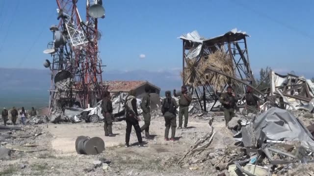 stockvideo's en b-roll-footage met turkish warplanes killed more than two dozen kurdish fighters tuesday in strikes in syria and iraq where the kurds are key players in the battle... - clean