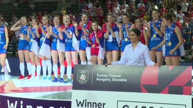 turkish women's national volleyball team became the 2019 cev volleyball european championship runnersup losing sunday's epic final to serbia 23 top... - world sports championship stock videos & royalty-free footage