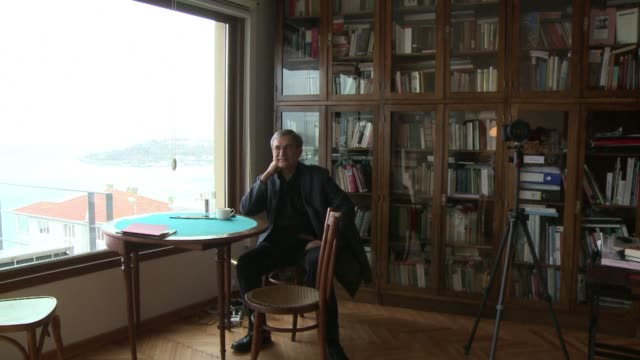 turkish writer orhan pamuk who won the nobel prize for literature in 2006 denounces what he called a climate of fear in his country - nobel prize in literature stock videos & royalty-free footage