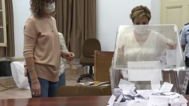 turkish-cypriot election staff members count votes for the run-off election of a new leader for the self-proclaimed turkish republic of northern... - runoff election stock videos & royalty-free footage