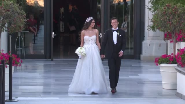 vídeos de stock, filmes e b-roll de turkish–german striker mesut ozil tied the knot with amine gulse on friday in istanbul president recep tayyip erdogan and first lady emine erdogan... - conceitos e temas