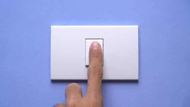 turn on and turn off a light switch - index finger stock videos & royalty-free footage