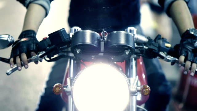 turn on the headlights. - motorcycle biker stock videos & royalty-free footage