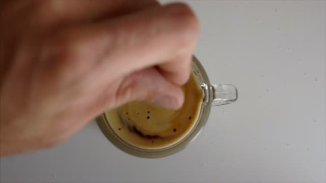 turn the sugar into the coffee - spoon stock videos & royalty-free footage