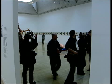 nominations announced england london tate britain int * * music overlaid on the following shots sot * * gallery visitors looking at exhibit of vases... - environmental media awards stock videos & royalty-free footage