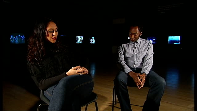 the otolith group interview england london tate britain int kodwo eshun and anjalika sagar interview sot approach we have to film is broadly designed... - 環境メディア賞点の映像素材/bロール