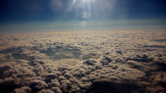 Turning a corner above the clouds