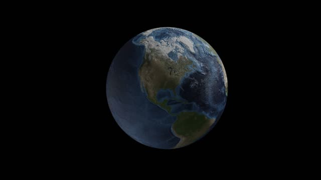 turning earth 3d rendering.4k footage.alpha channel for background. - famous place stock videos & royalty-free footage