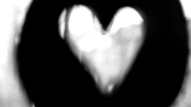 turning heart symbol, black and white - answering stock videos & royalty-free footage