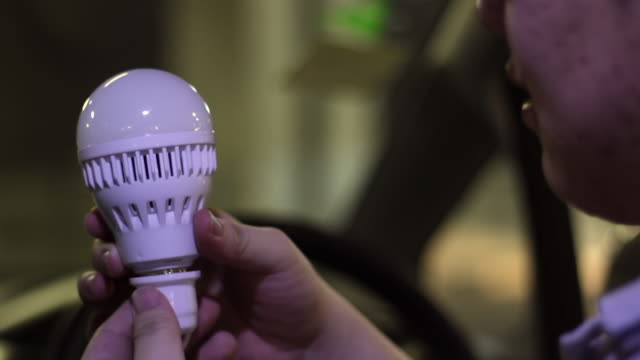 turning light bulb in car - led stock videos & royalty-free footage
