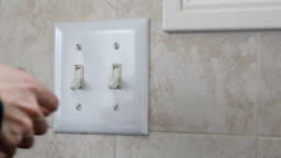 turning light switch on and off