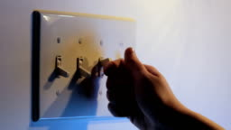 Turning light switches on and off