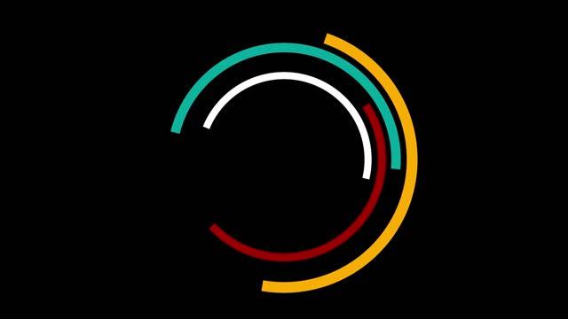 vidéos et rushes de tourner le logo ou l'arrière-plan de cercles minimaux avec la vidéo de stock d'espace de copie - approprié pour l'utilisation verticale - image dépouillée