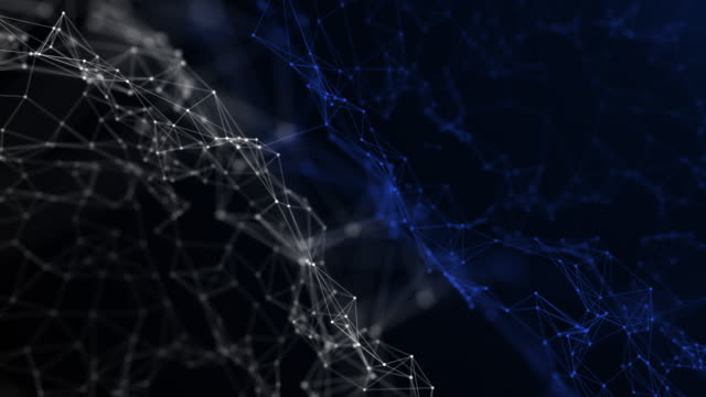 turning network form connections , 3d render rotating form in dark background - spiral stock videos & royalty-free footage