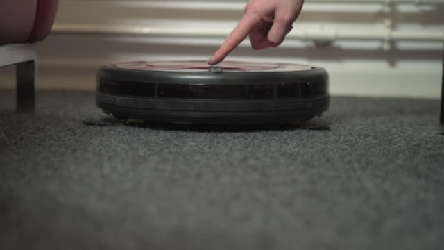Turning on a Vacuum Robot