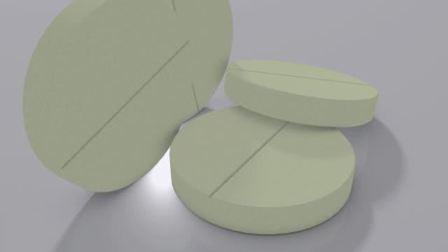 cu turning tablets on white background / greece - テーブルトップショット点の映像素材/bロール