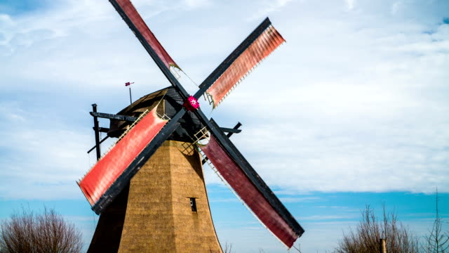 super slow motion : turning traditional windmill - mill stock videos & royalty-free footage