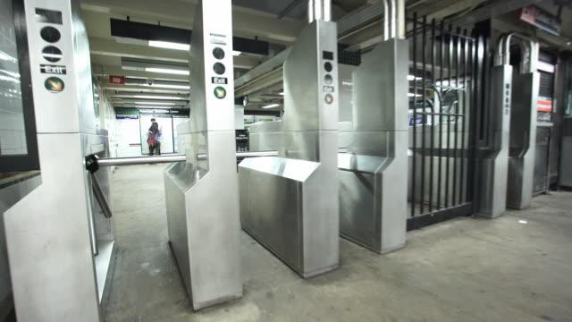 turnstile pov - new york city subway stock videos & royalty-free footage