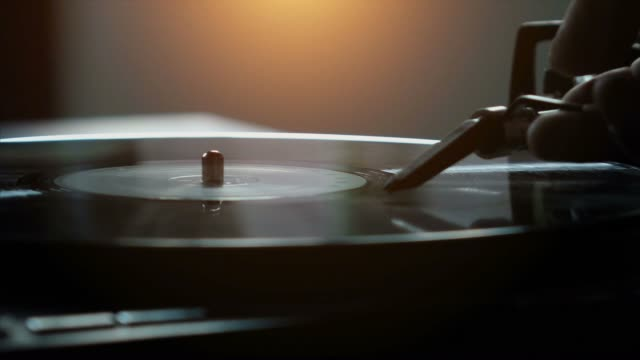 turntable with vinyl - record player stock videos & royalty-free footage