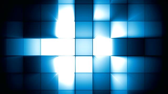 turquaz square flash light - pulsating stock videos & royalty-free footage