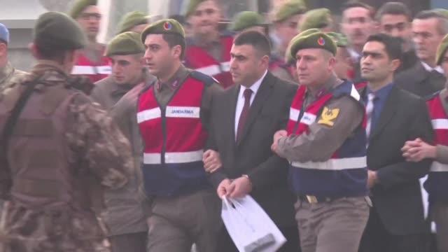 turquia comenzo el lunes el juicio contra 47 sospechosos de un intento de asesinato contra el presidente recep tayyip erdogan en el fallido golpe de... - law stock videos & royalty-free footage